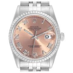 Rolex Datejust 36 Salmon Roman Dial Steel Men's Watch 16220