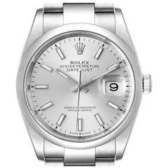 Rolex Datejust 36 Silver Dial Domed Bezel Men's Watch 126200 Unworn