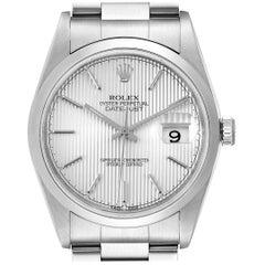 Rolex Datejust 36 Silver Dial Oyster Bracelet Steel Men's Watch 16200