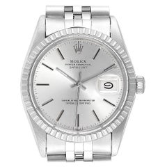 Rolex Datejust 36 Silver Dial Steel Vintage Men's Watch 16030 Box Papers