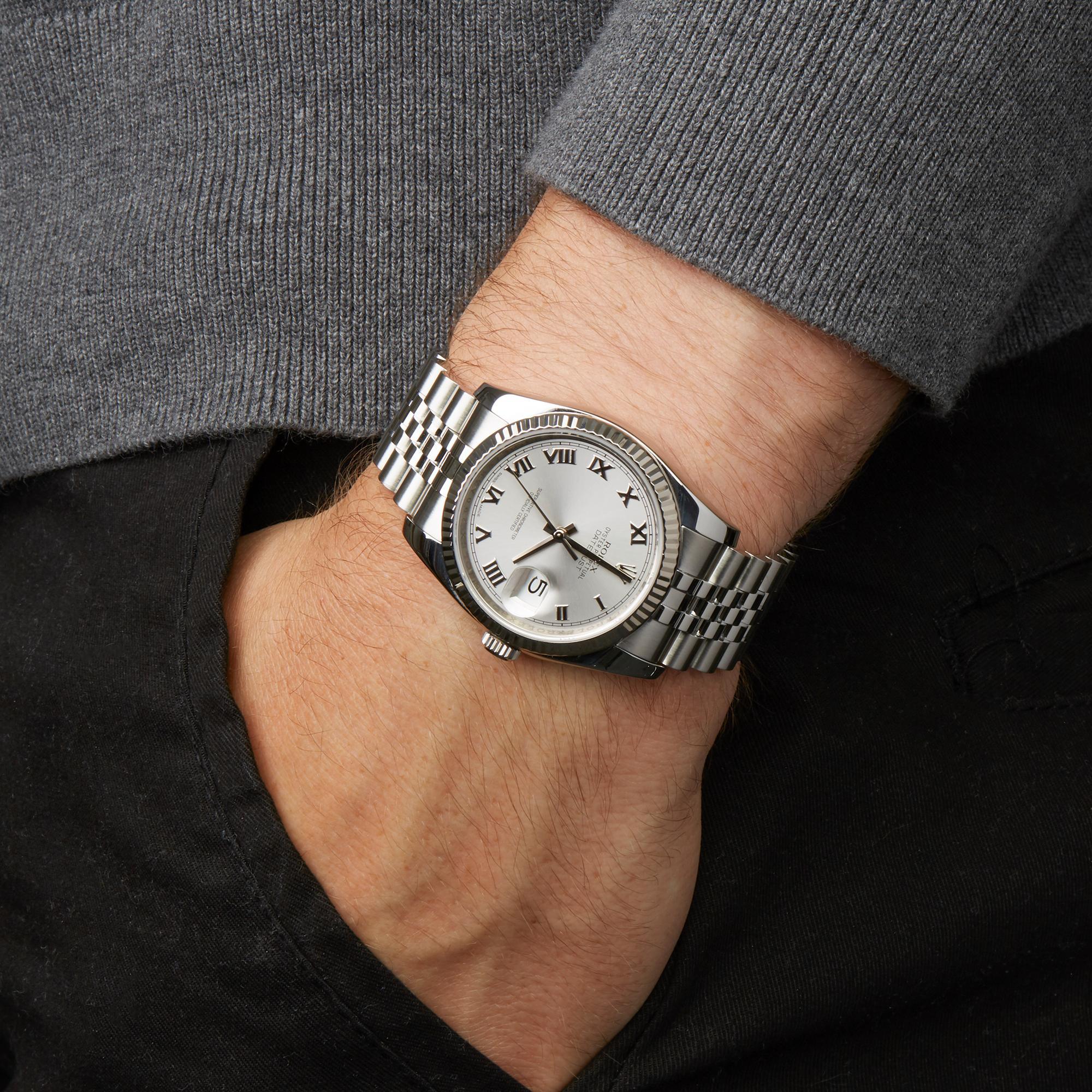 Rolex Datejust 36 Stainless Steel 116234 Wristshot
