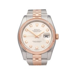 Rolex Datejust 36 Stainless Steel 18K Rose Gold 116231
