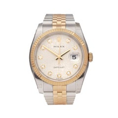 Rolex Datejust 36 Stainless Steel 18K Yellow Gold 116233