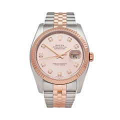 Rolex Datejust 36 Stainless Steel and 18K Rose Gold 116231