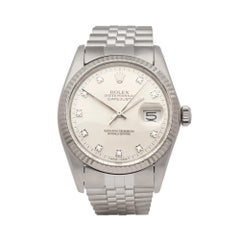 Rolex Datejust 36 Stainless Steel and 18 Karat White Gold 16014