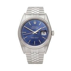 Rolex Datejust 36 Stainless Steel and 18 Karat White Gold 16234 Wristwatch