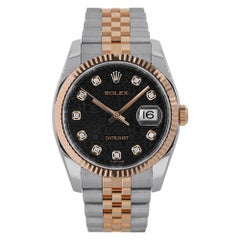 Rolex Datejust 36 Stainless-Steel and Rose Gold Jubilee Diamond Dial 116231
