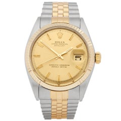Rolex DateJust 36 Stainless Steel and Yellow Gold 1601