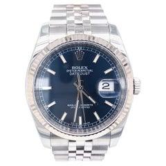 Rolex Datejust 36 Stainless Steel Blue Dial Fluted Bezel Jubilee Bracelet 116234
