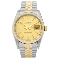 Rolex DateJust 36 Stainless Steel and Yellow Gold 16233 Wristwatch