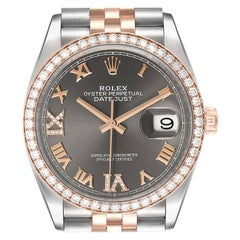 Rolex Datejust 36 Steel Rose Gold Diamond Unisex Watch 126281 Unworn