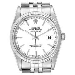 Rolex Datejust 36 Steel White Gold Jubilee Bracelet Men's Watch 16234