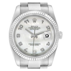 Rolex Datejust 36 Steel White Gold Mother of Pearl Men's Watch 116234