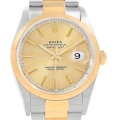 Rolex Datejust 36 Steel Yellow Gold Roman Dial Men's Watch 16203