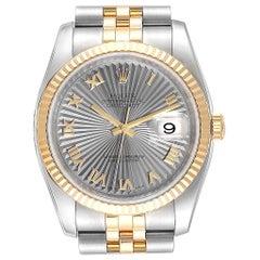 Rolex Datejust 36 Steel Yellow Gold Sunbeam Dial Men's Watch 116233