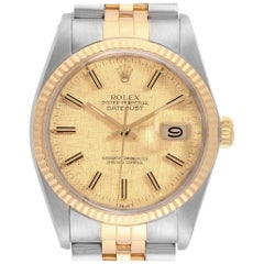 Rolex Datejust 36 Steel Yellow Gold Vintage Men's Watch 16013 Box Papers