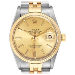 Rolex Datejust 36 Steel Yellow Gold Vintage Men's Watch 16013