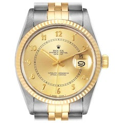 Rolex Datejust 36 Steel Yellow Gold Vintage Men's Watch 16013