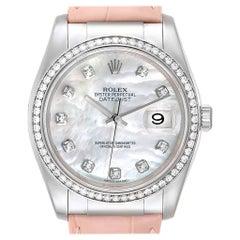 Rolex Datejust 36 White Gold Diamond Men's Watch 116189 Unworn