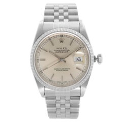 Rolex Datejust Holes Steel Silver Dial Automatic Mens Watch 16220