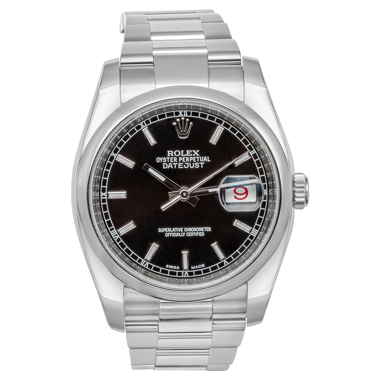 Rolex Datejust Roulette Date Stainless Steel Wristwatch Ref. 116200