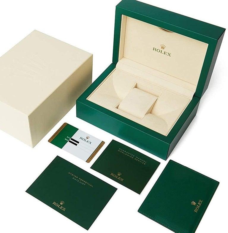 Women's or Men's Rolex Datejust Stainless Steel Midsize Watch Model #: 126200 White Roman For Sale