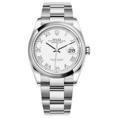 Rolex Datejust Stainless Steel Midsize Watch Model #: 126200 White Roman