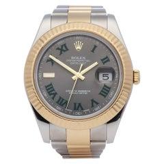 Rolex Datejust 41 116333 Men's Yellow Gold & Stainless Steel 'Wimbledon' Watch