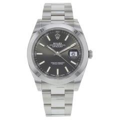 Rolex Datejust 41 126300 Bkio Black Index Dial Steel Automatic Men's Watch