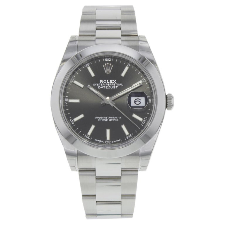 Rolex Datejust 41 126300 Bkio Black Index Dial Steel Automatic Men's Watch For Sale