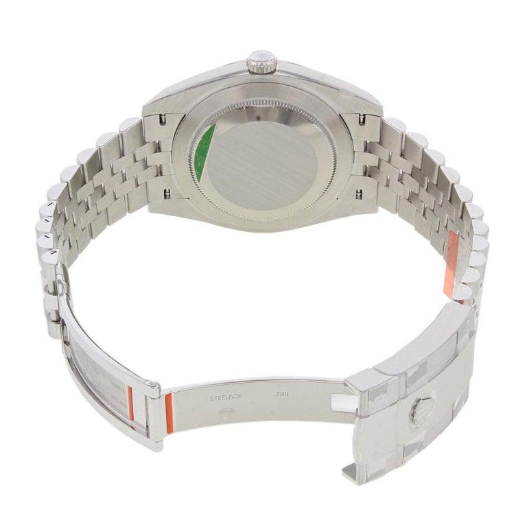 Rolex Datejust 41 126300 Blij Blue Index Dial Steel Automatic Men's Watch For Sale 2