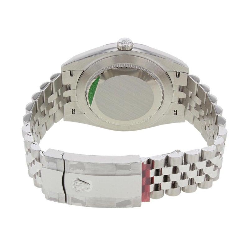 Rolex Datejust 41 126300 Blij Blue Index Dial Steel Automatic Men's Watch For Sale 3