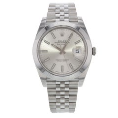 Rolex Datejust 41 126300 Sij Silver Index Dial Steel Automatic Men's Watch