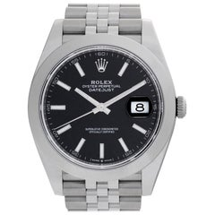 Rolex Datejust 41 126300 Stainless Steel Black Dial Automatic Watch