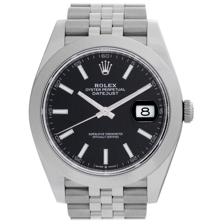 Rolex Datejust 41 126300 Stainless Steel Black Dial Automatic Watch For Sale