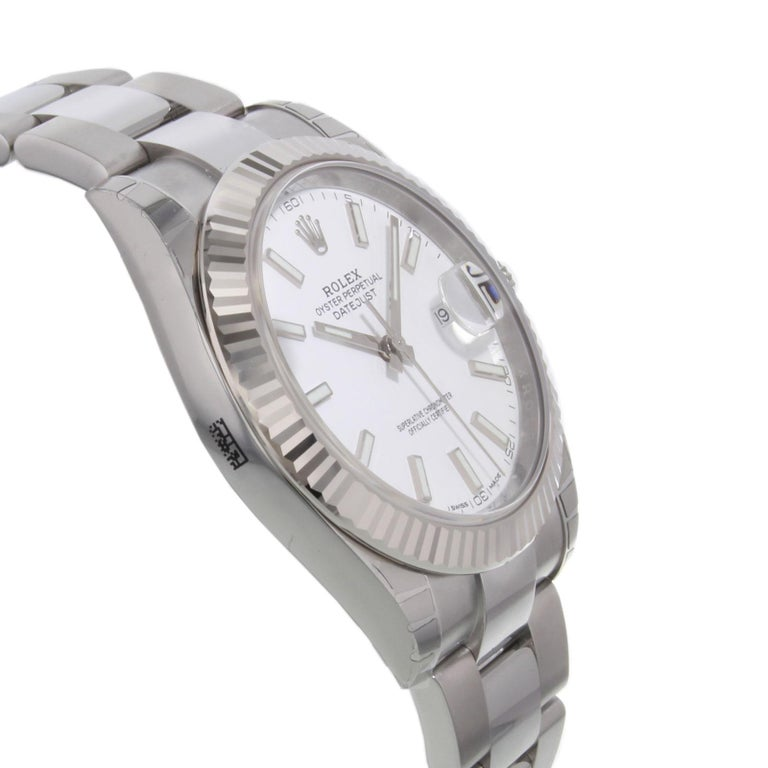 Rolex Datejust 41 126300 Wio White Index Dial Steel Automatic Men's Watch For Sale 1