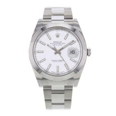 Rolex Datejust 41 126300 Wio White Index Dial Steel Automatic Men's Watch