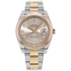 Rolex Datejust 41 126301 Sudj 18 Karat Rose Gold Steel Automatic Men's Watch