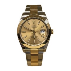 Rolex Datejust 41 126303 Champagne Dial 18 Karat Yellow Gold Stainless Steel