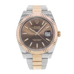Rolex Datejust 41 126331 Choio 18 Karat Rose Gold Steel Automatic Men's Watch