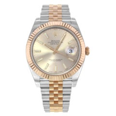 Rolex Datejust 41 126331 Steel and 18 Karat Rose Gold Automatic Men's Watch