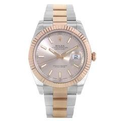 Rolex Datejust 41 126331 Sunburst Dial Rose Gold Steel Automatic Men's Watch
