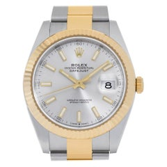 Rolex Datejust 41 126333 18k and Stainless Steel Silver Dial Automatic Watch