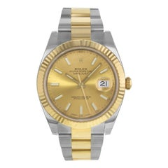 Rolex Datejust 41 126333 Chio 18 Karat Yellow Gold Steel Automatic Men's Watch