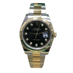 Rolex Datejust 41 126333 Diamond Dial 18 Karat Gold and Steel Box Paper