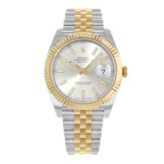Rolex Datejust 41 126333 Silver Dial 18 Karat Gold Steel Automatic Men's Watch
