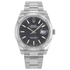 Rolex Datejust 41 126334 Black Dial 18 Karat Gold Steel Automatic Men's Watch