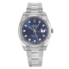 Rolex Datejust 41 126334 Blue Dial 18 Karat Gold Steel Automatic Men's Watch