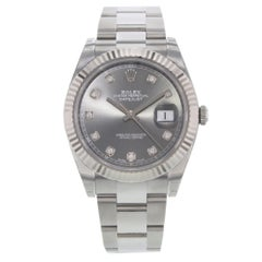 Rolex Datejust 41 126334 dkrdo Diamond Dial Steel 18 Karat Gold Men's Watch