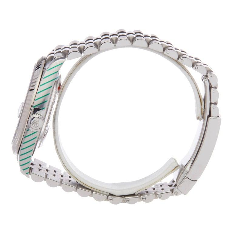 Rolex Datejust 41 126334 Men's Stainless Steel Diamond Watch In Excellent Condition For Sale In Bishops Stortford, Hertfordshire